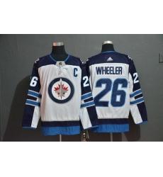 Men Winnipeg Jets 26 Blake Wheeler White Adidas Jersey
