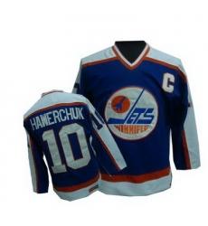 Winnipeg Jets #10 HAWERCHUK blue Jersey
