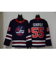 Winnipeg Jets 55 Mark Sceifele Navy 2019 Heritage Classic Breakaway Adidas Jersey
