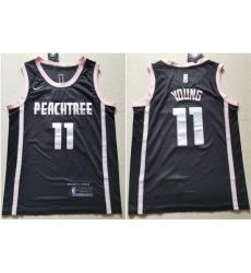 Hawks 11 Trae Young Black Nike City Edition Swingman Jersey