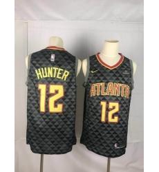 Hawks 12 De 27Andre Hunter Black Nike Swingman Jersey