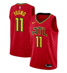 Men Atlanta Hawks 11 Trae Young Statement Edition Red Jersey
