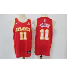 Men Atlanta Hawks Trae Young 11 Black 2020 21 Nike Red City Edition Swingman Jordan Brand Jersey