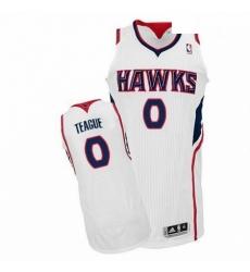 Revolution 30 Hawks 0 Jeff Teague White Stitched NBA Jersey