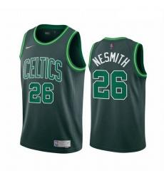 Men Boston Celtics 26 Aaron Nesmith Green NBA Swingman 2020 21 Earned Edition Jersey