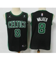 Men Boston Celtics 8 Kemba Walker Black 2021 Brand Jordan Swingman Stitched NBA Jersey With NEW Sponsor Logo