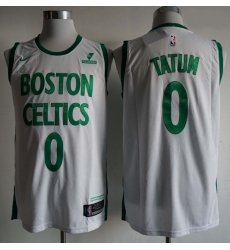 Men Boston Celtics Jayson Tatum 0 White City Edition NBA Jersey