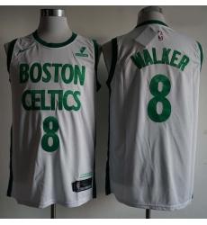 Men Boston Celtics Kemba Walker 8 White City Edition NBA Jersey