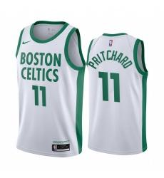 Men Nike Boston Celtics 11 Payton Pritchard White NBA Swingman 2020 21 City Edition Jersey
