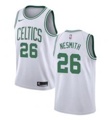 Men Nike Boston Celtics 26 Aaron Nesmith White NBA Swingman Association Edition Jersey