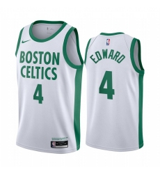 Men Nike Boston Celtics 4 Carsen Edward White NBA Swingman 2020 21 City Edition Jersey