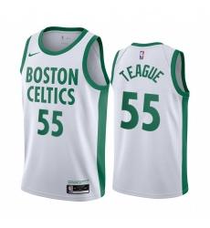Men Nike Boston Celtics 55 Jeff Teague White NBA Swingman 2020 21 City Edition Jersey
