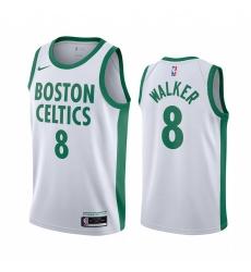Men Nike Boston Celtics 8 Kemba Walker White NBA Swingman 2020 21 City Edition Jersey