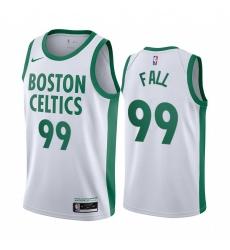 Men Nike Boston Celtics 99 Tacko Fall White NBA Swingman 2020 21 City Edition Jersey