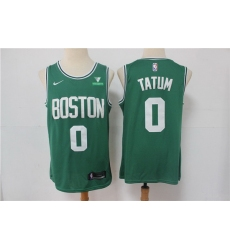 Men Nike Boston Celtics Jayson Tatum 0 Green NBA Swingman 2020 21 City Edition Jersey