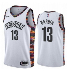 Men Brooklyn Nets 13 James Harden White 2020 City Edition Nike Swingman Jersey
