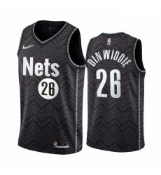 Men Brooklyn Nets 26 Spencer Dinwiddie Black NBA Swingman 2020 21 Earned Edition Jersey