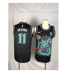 Men's Brooklyn Nets #11 Kyrie Irving Dragon Black Jersey