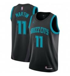 Men Nike Charlotte Hornets 11 Cody Martin Black NBA Jordan Swingman City Edition 2018 19 Jersey