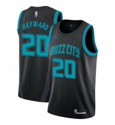 Men Nike Charlotte Hornets 20 Gordon Hayward Black NBA Jordan Swingman City Edition 2018 19 Jersey