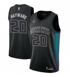 Men Nike Charlotte Hornets 20 Gordon Hayward Black NBA Jordan Swingman City Edition Jersey