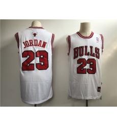 Men Chicago Bulls 23 Jordan White Throwback 2021 Nike NBA Jersey