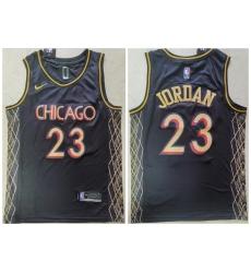 Men Chicago Bulls 23 Michael Jordan Black 2021 City Edition Nike Swingman Jersey