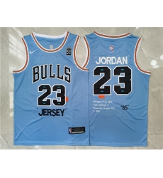 Men Chicago Bulls 23 Michael Jordan Blue Nike 85 Swingman Jersey