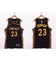 Men Chicago Bulls 23 Michael Jordan NEW Black Nike 2021 Swingman City Edition Jersey