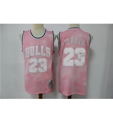 Men Chicago Bulls 23 Michael Jordan PInk 2003 Limited Jersey