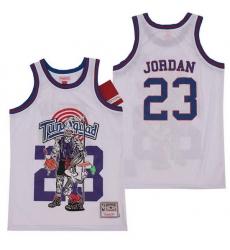 Men Chicago Bulls 23 Michael Jordan skeleton white Jersey