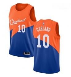Cavaliers #10 Darius Garland Blue Basketball Swingman City Edition 2018 19 Jersey