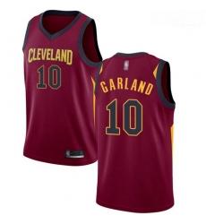 Cavaliers #10 Darius Garland Red Basketball Swingman Icon Edition Jersey