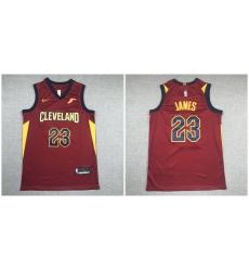 Cavaliers 23 Lebron James Red Nike Swingman Jersey