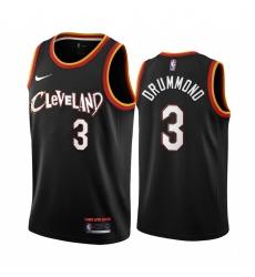 Men Nike Cleveland Cavaliers 3 Andre Drummond Black NBA Swingman 2020 21 City Edition Jersey