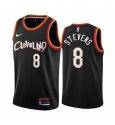 Men Nike Cleveland Cavaliers 8 Lamar Stevens Black NBA Swingman 2020 21 City Edition Jersey