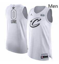 Mens Nike Jordan Cleveland Cavaliers 0 Kevin Love Authentic White 2018 All Star Game NBA Jersey