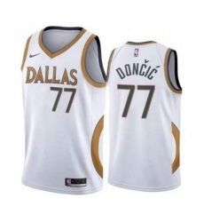 Men Dallas Mavericks 77 Luka Doncic 2020 2021 City Edition NBA Stitched Jersey