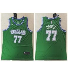 Men Dallas Mavericks 77 Luka Doncic Green Nike Swingman Jersey