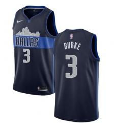 Men Nike Dallas Mavericks 3 Trey Burke Navy NBA Swingman Statement Edition Jersey