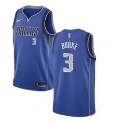 Men Nike Dallas Mavericks 3 Trey Burke Royal NBA Swingman Icon Edition Jersey