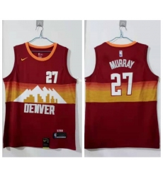 Men Denver Nuggets 27 Jamal Murray Red 2020 21 City Edition Nike Swin