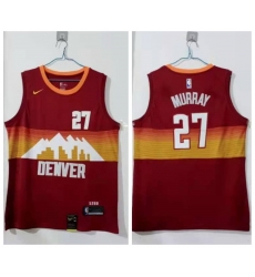 Men Denver Nuggets 27 Jamal Murray Red 2020 21 City Edition Nike Swingman Jersey