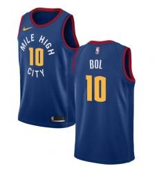 Men Nike Denver Nuggets 10 Bol Bol Blue NBA Swingman Statement Edition Jersey