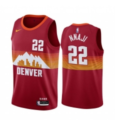 Men Nike Denver Nuggets 22 Zeke Nnaji Red NBA Swingman 2020 21 City Edition Jersey