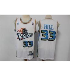 Men Adidas Detroit Pistons Grant Hill 33 Hardwood Classics Jersey