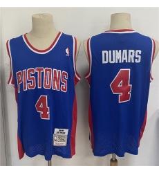 Men Detroit Pistons 4 Joe Dumars Blue 1988 89 Hardwood Classics Mesh Jersey