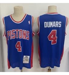 Men Detroit Pistons 4 Joe Dumars Blue 1988 89 Hardwood Classics