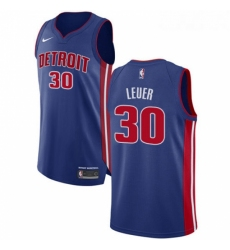 Womens Nike Detroit Pistons 30 Jon Leuer Authentic Royal Blue Road NBA Jersey Icon Edition
