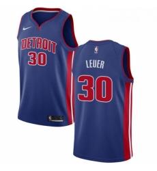 Womens Nike Detroit Pistons 30 Jon Leuer Swingman Royal Blue Road NBA Jersey Icon Edition